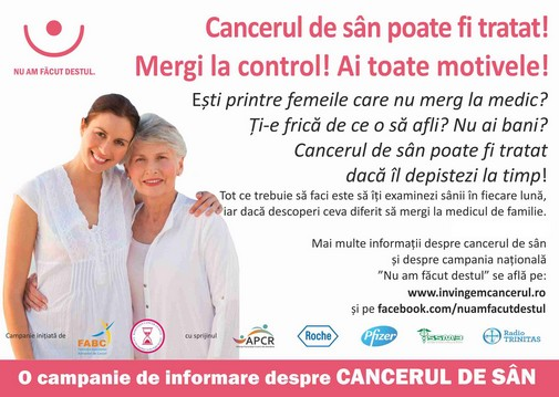 imagine campanie cancer de san mica
